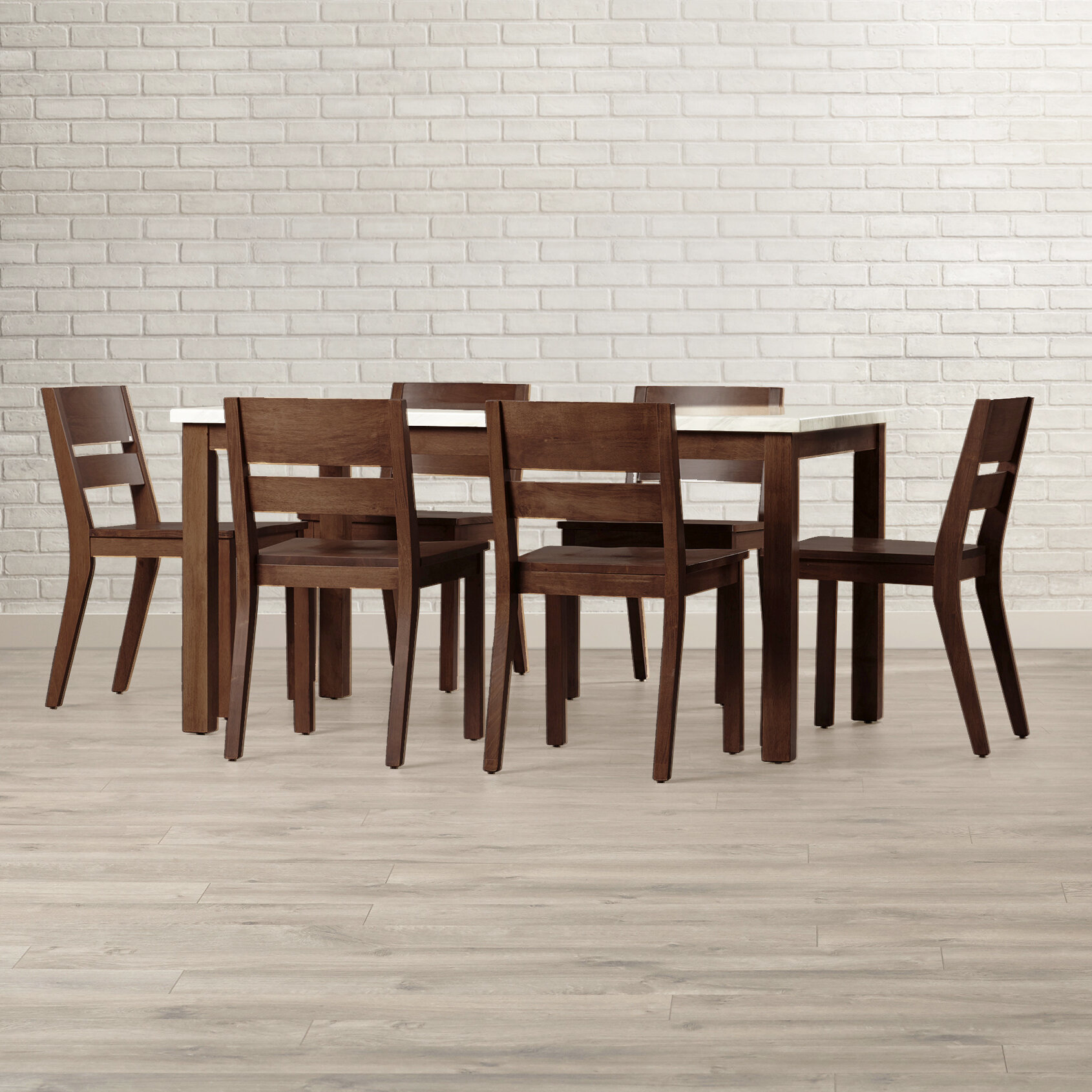 Brayden Studio Medea 7 Piece Dining Set with Cushions BYST5019 Color: Brown advise