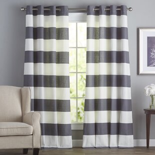 eyelet of curtains fresh horizontal bold stripe curtain thick