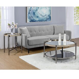 Best Reviews Davidson 2 Piece Coffee Table Set ByMercer41
