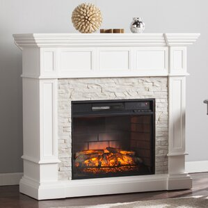 Rustic Electric Fireplaces You'll Love   Wayfair