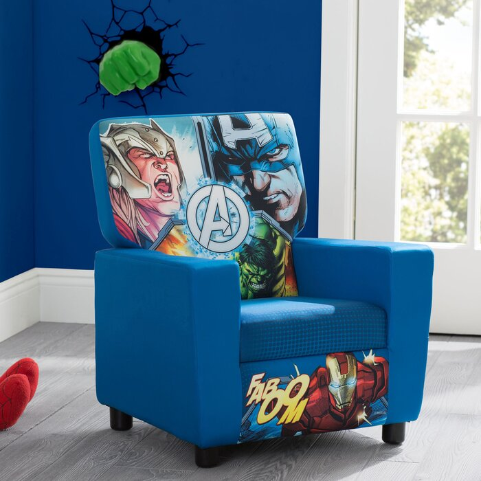 Terrific Marvel Avengers High Back Upholstered Kids Chair Ocoug Best Dining Table And Chair Ideas Images Ocougorg