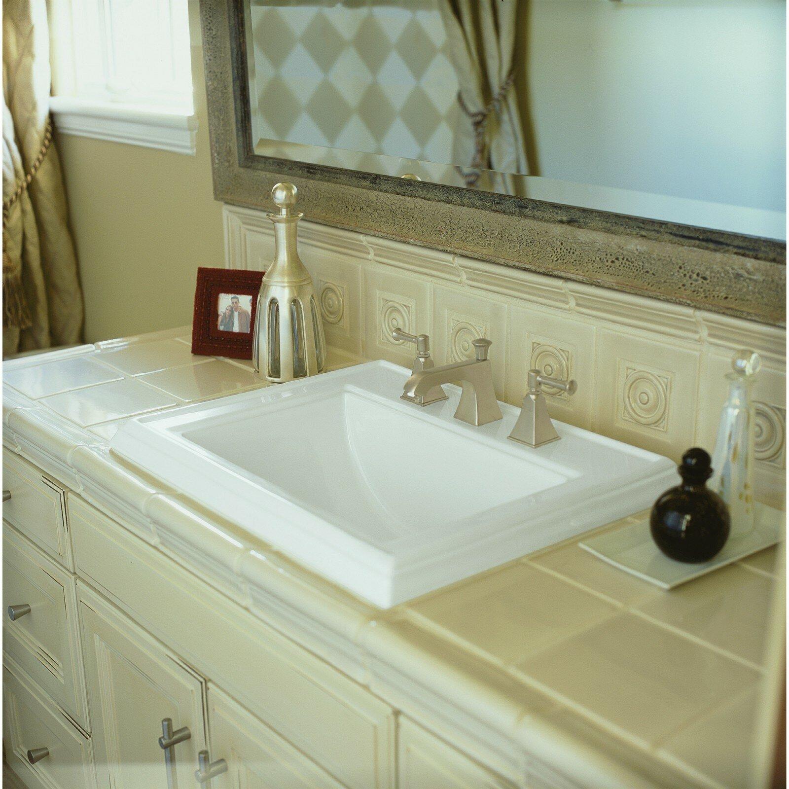 K 2241 8 0 1 0 4 0 Kohler Memoirs Ceramic Rectangular Drop In Bathroom Sink With Overflow Reviews Wayfair