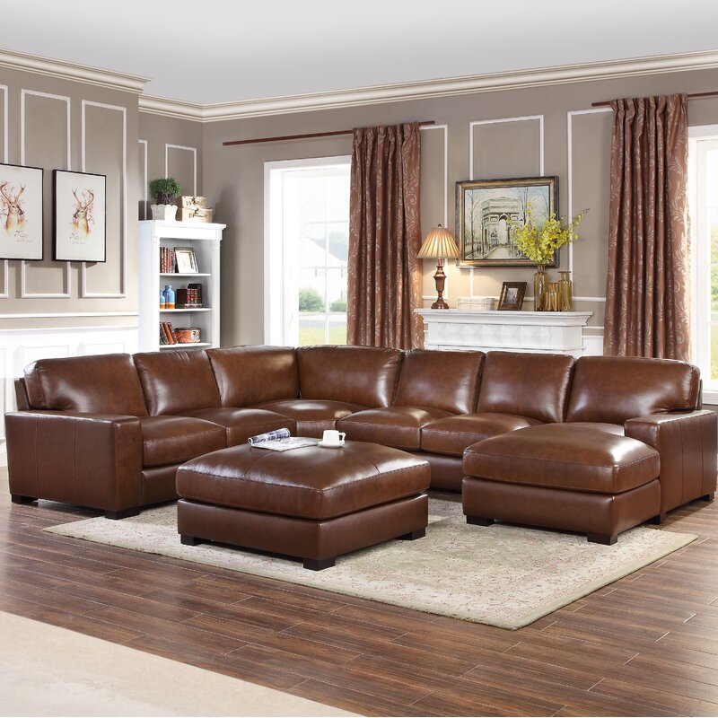 Darby Home Co Gartner Leather 139 5
