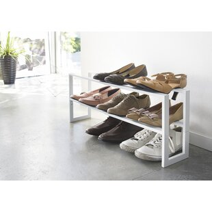 Best Price Line Adjustable 2 Tier 8 Pair Shoe Rack By Yamazaki Home