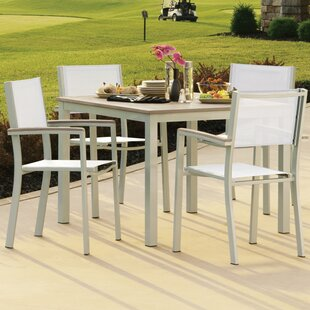 Farmington 5 Piece Tekwood Dining Set with Leg End Caps By Latitude Run