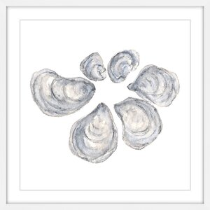 'Oysters' by Thimble Sparrow Framed Painting Print by Marmont Hill