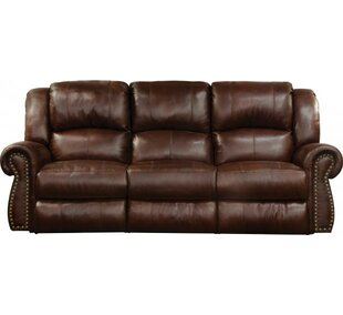 Messina Leather Reclining Loveseat