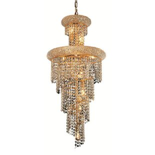 Compare & Buy Mathilde 10-Light Crystal Chandelier By Everly Quinn