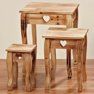 Farmhouse 3 Piece Nesting Tabl..