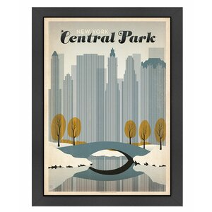 Central Park NYC Framed Vintage Advertisement by East Urban Home