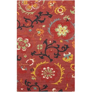 Sharan Red Area Rug