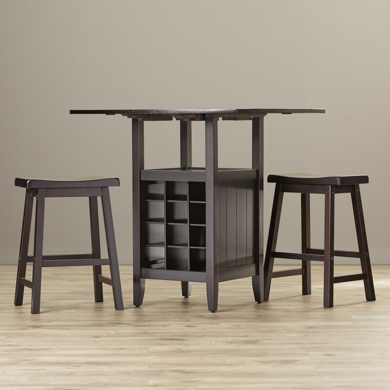 Carisbrooke 3 Piece Pub Table Set in Espresso & Reviews | Joss & Main