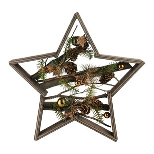 decorated mixed branches in christmas star shaped ornament - Large Outdoor Christmas Star