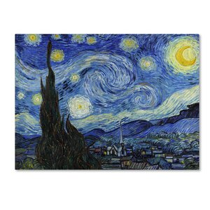 'Starry Night' by Vincent van Gogh Print on Wrapped Canvas by Trademark Fine Art