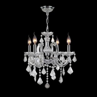 Best Reviews Roslyn Traditional 4-Light Candle Style Chandelier By Rosdorf Park