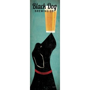 Black Dog Brewing Co. Wall Art on Wrapped Canvas by Red Barrel Studio