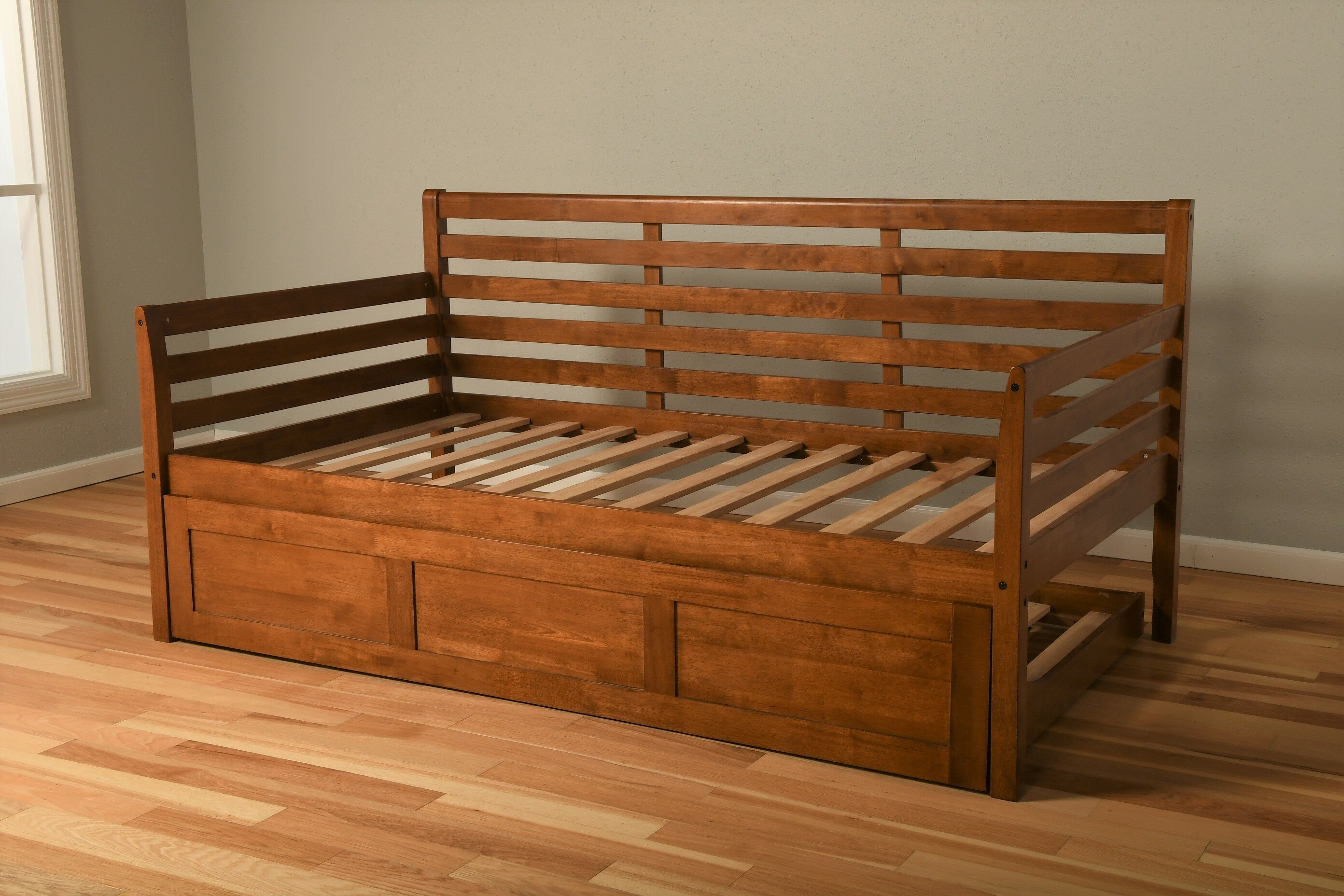 - Red Barrel Studio Franco Twin Solid Wood Daybed Frame With Trundle