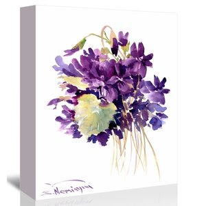 'Wild Violets' Painting Print on Gallery Wrapped Canvas by Ophelia & Co.