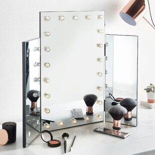 Charmant Ruttenberg Tri Fold Lighted Makeup/Shaving Mirror