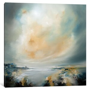 Sun Reflect Painting on Wrapped Canvas by Latitude Run