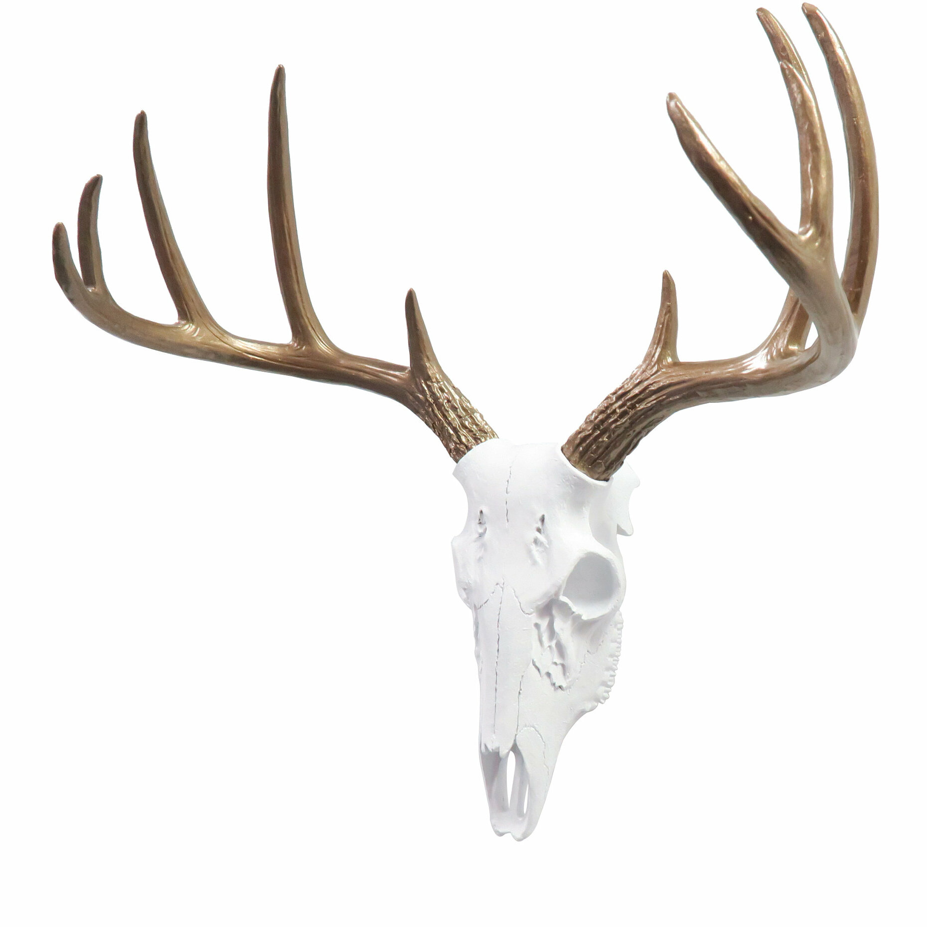 Faux Taxidermy Mini Deer Skull Wall Décor
