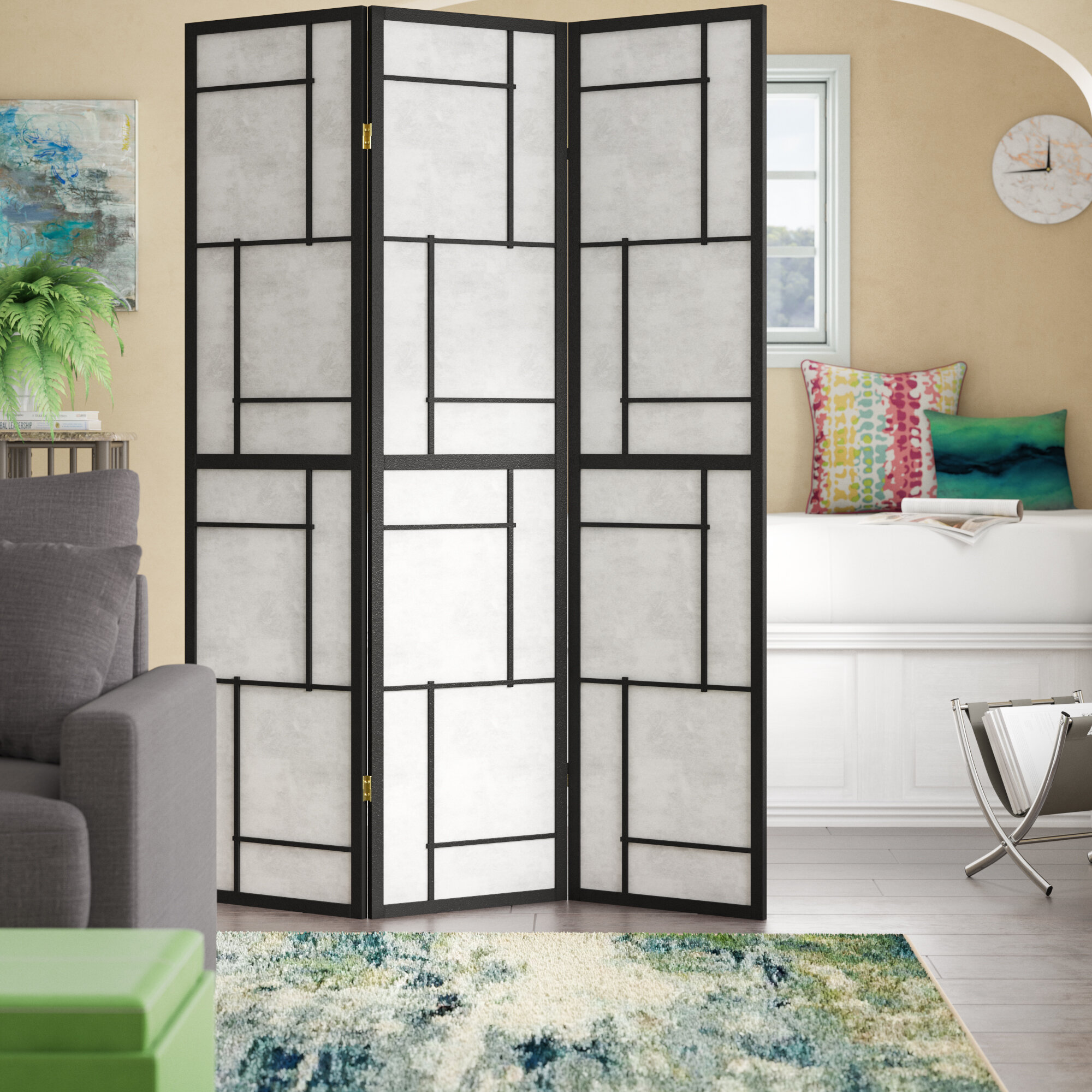 Ebern Designs Samatha 3 Panel Room