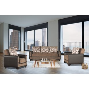 Liela 3 Pieces Sleeper Living Room Set by Winston Porter