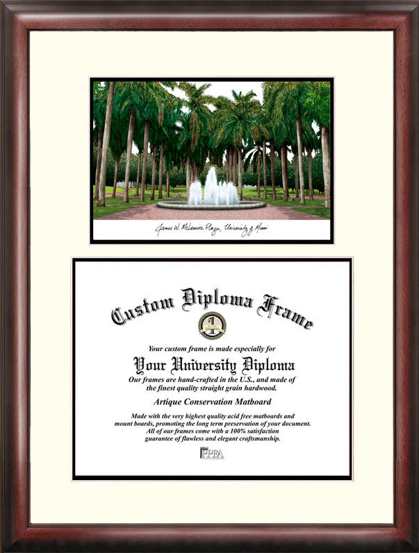 Campus Images NCAA Miami University Scholar Diploma Picture Frame ...