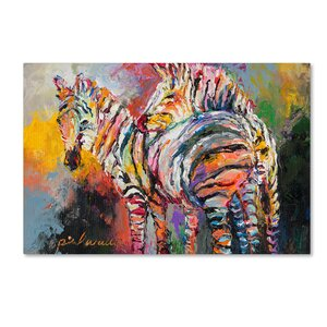 'Zebras' Print on Wrapped Canvas by Trademark Fine Art