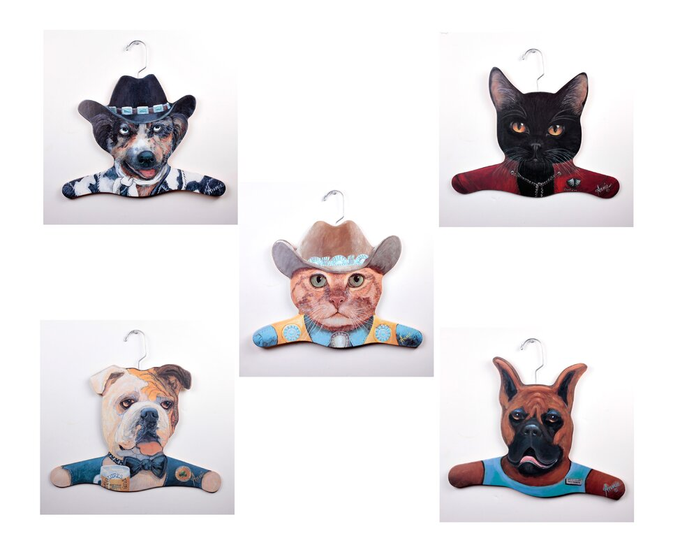 Animal Cowboy Dog/Cowboy Cat/Bull Dog/Boxer/Black Cat Hanger