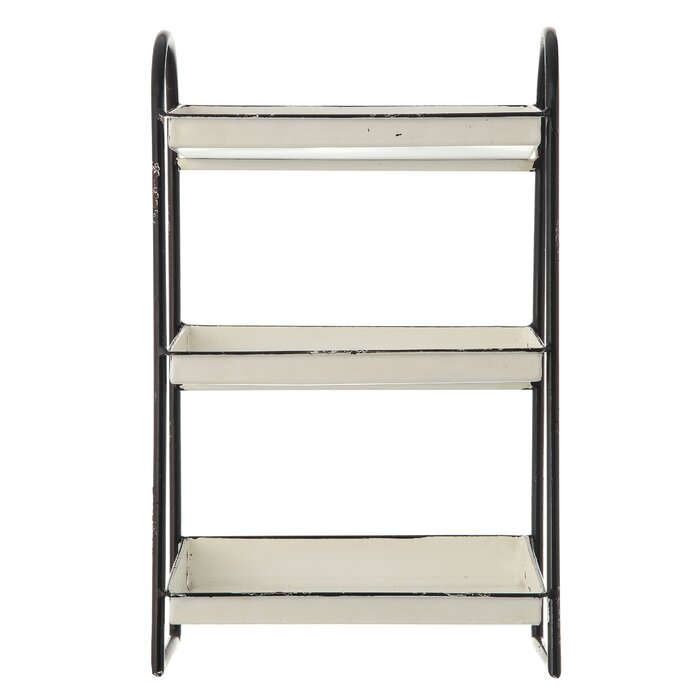 Super Melville Heavily Distressed 3 Tier Metal With Frame Rim Ottoman Coffee Table Tray Short Links Chair Design For Home Short Linksinfo
