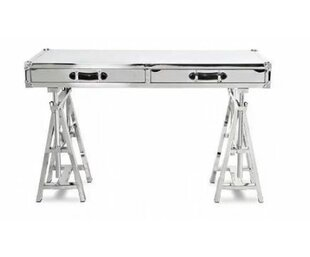 Buy clear Cronin Glass Adjustable Height Desk by 17 Stories
