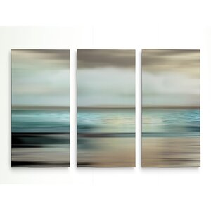 'Shimmering Sea' Graphic Art Print Multi-Piece Image on Wrapped Canvas by Highland Dunes