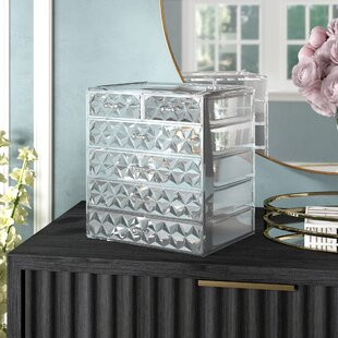 Makeup organizers youll love wayfair whisnant diamond pattern makeup cosmetic organizer watchthetrailerfo