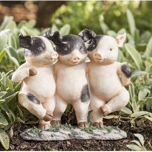 Three Dancing Pigs Garden Statue