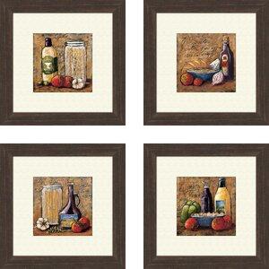 'Kitchen Rustic' 4 Piece Framed Painting Print Set by Fleur De Lis Living