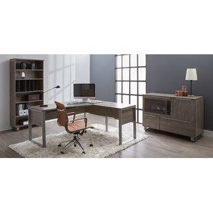 Best Reviews Afton 4 Piece Desk Office Suite ByEbern Designs