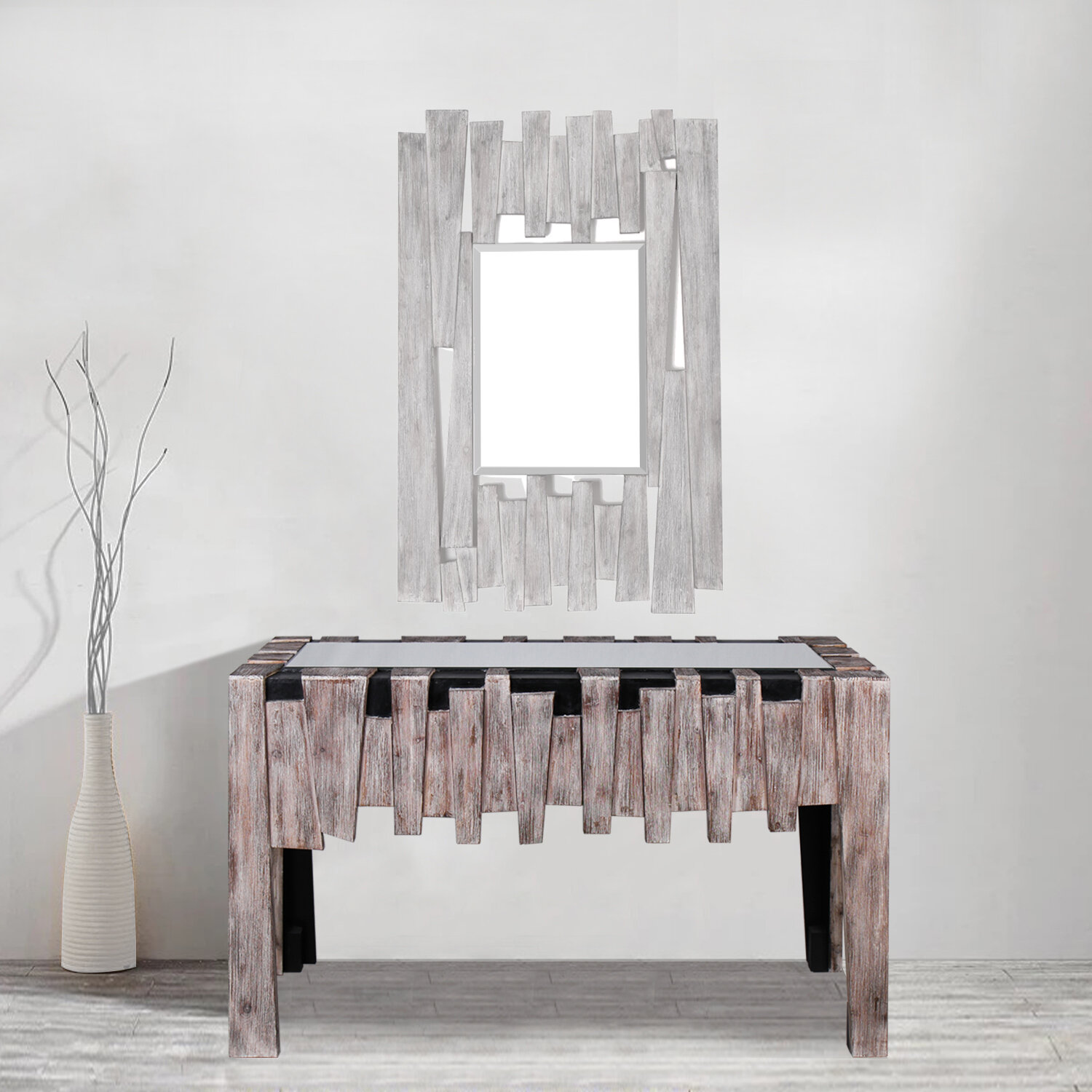 Peachy Bailey Mirrored Glass Top Console Table Ibusinesslaw Wood Chair Design Ideas Ibusinesslaworg