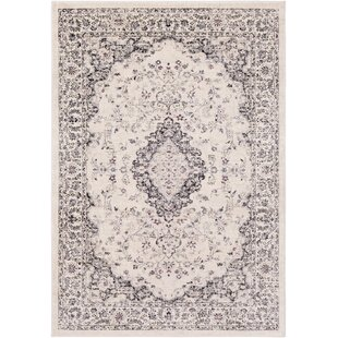 De Funiak Springs Cream/Black Area Rug By Bungalow Rose