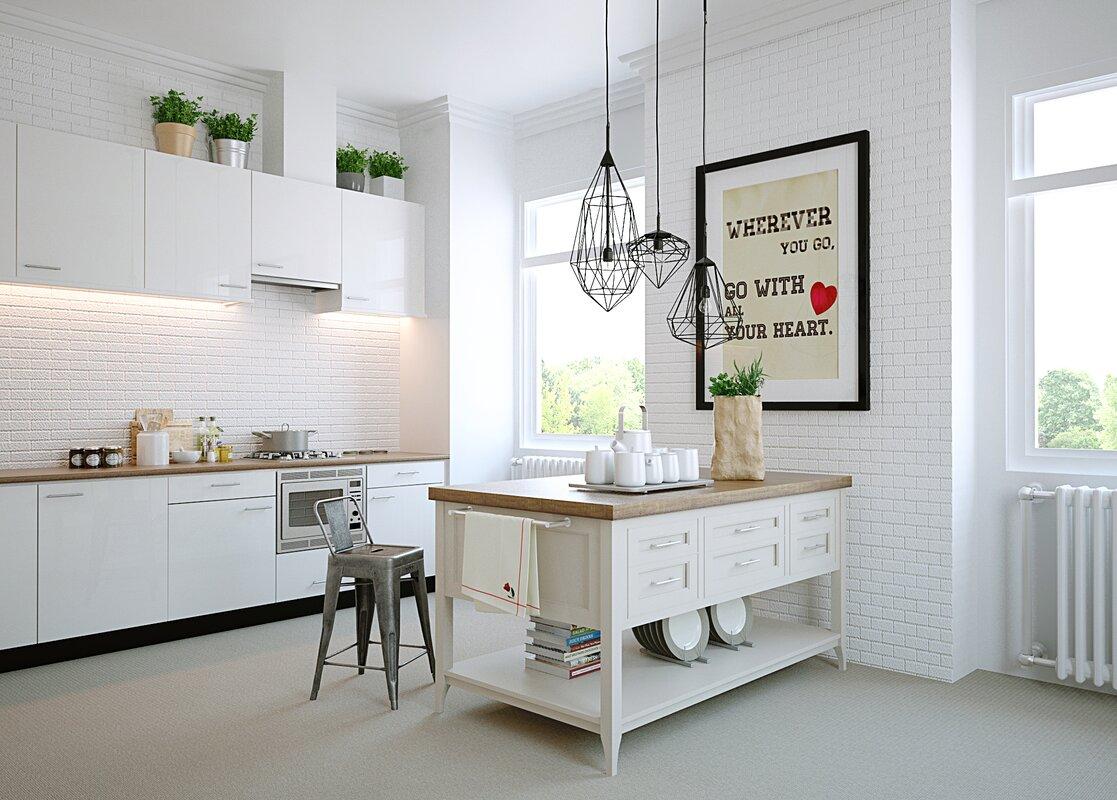 Laurel Foundry Modern Farmhouse Kira Kitchen Island & Reviews   Wayfair