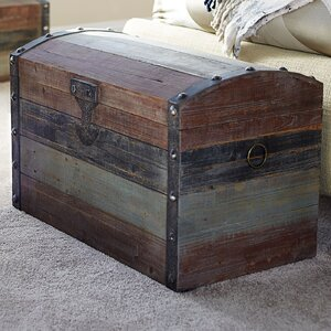 Caylee Small Weathered Wooden Storage Trunk