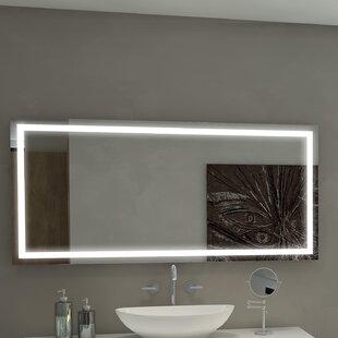 Reviews Harmony Illuminated Bathroom/Vanity Wall Mirror ByParis Mirror