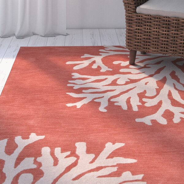Rosecliff Heights Granger Wool Hand Tufted Orange & Ivory Area Rug ...