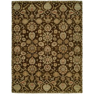Savings Lora Hand Knotted Wool Brown/Beige Area Rug By Darby Home Co