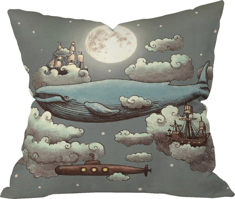 Terry Bird Decorative Pillow : Deny Designs Terry Fan Ocean Meets Sky Indoor/Outdoor Throw Pillow & Reviews Wayfair.ca