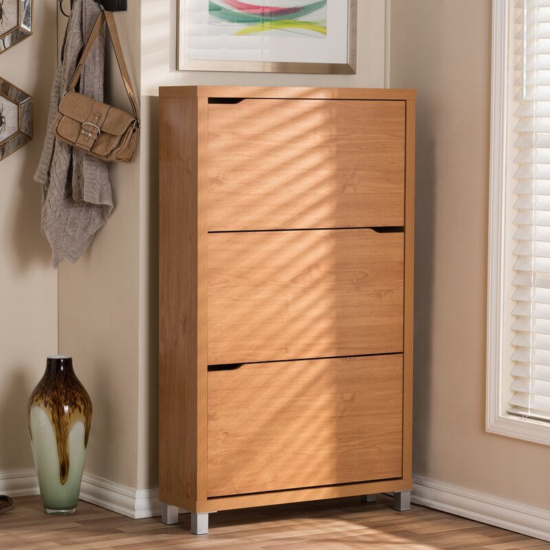 Brayden Studio Cade Modern 18-Pair Shoe Storage Cabinet & Reviews ...
