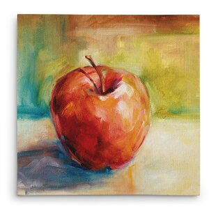 'Fresh Apple' Painting Print on Wrapped Canvas by Alcott Hill