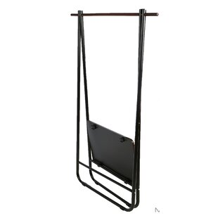 35.63 W Foldable Single Garment Rack with Medium Density Shelf ByMind Reader