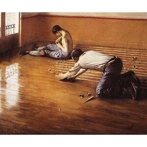 'The Floor Scrapers' by Gustave Caillebotte Painting Print by Buyenlarge