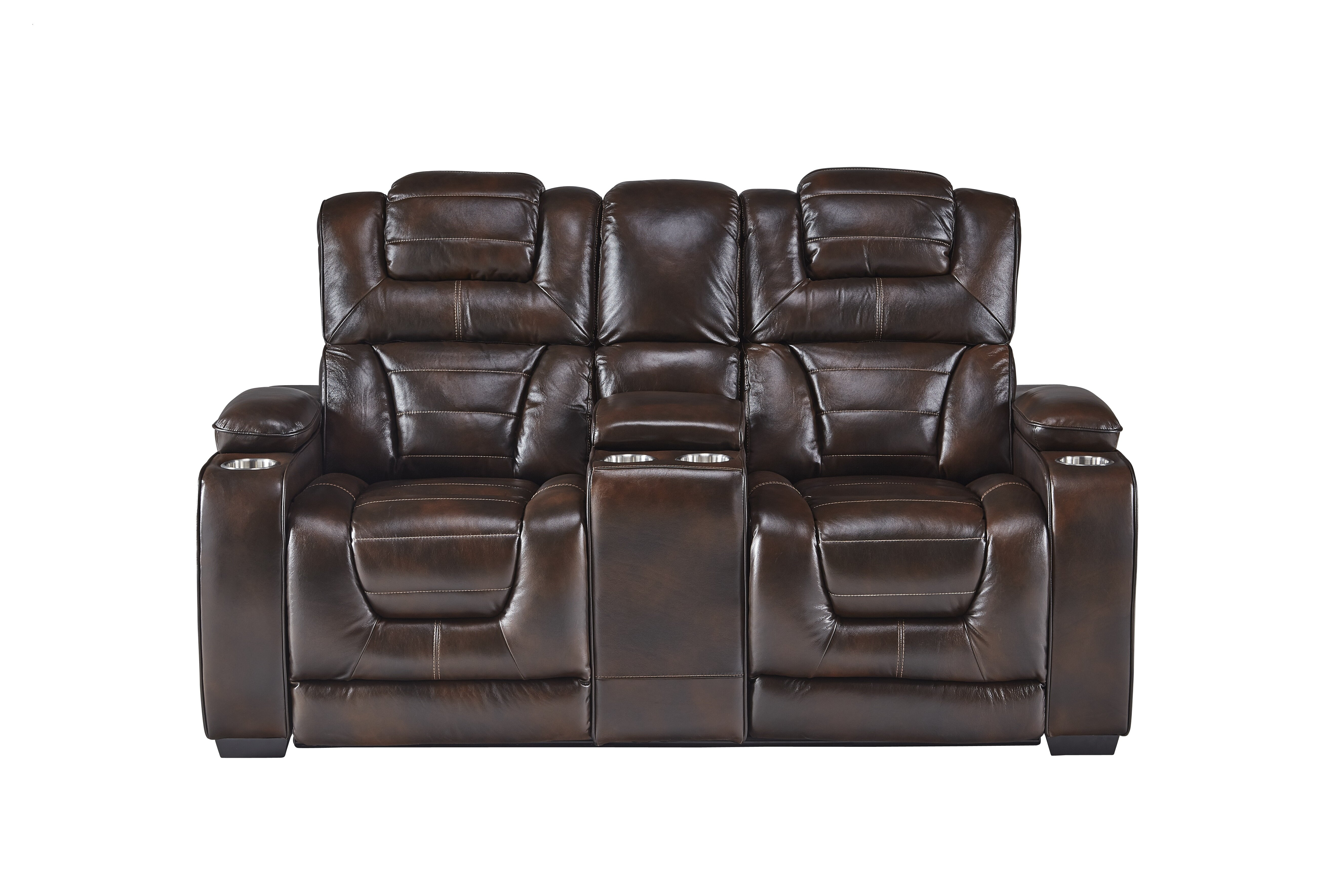 Swell Heiner Leather Home Theater Loveseat Squirreltailoven Fun Painted Chair Ideas Images Squirreltailovenorg